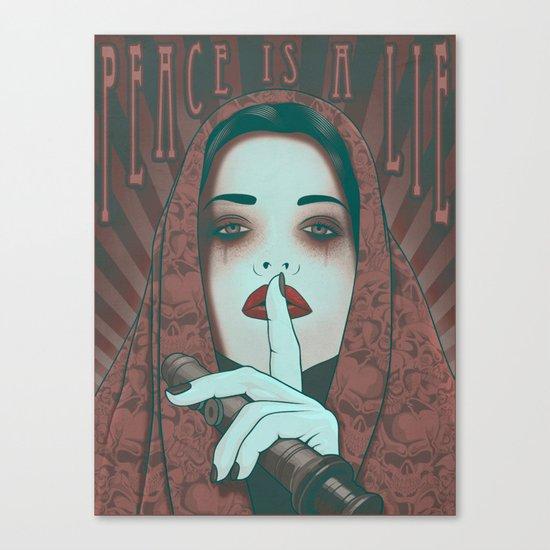 Peace is a Lie Canvas Print