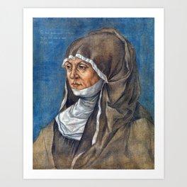 Albrecht Dürer Portrait of a Woman, Said to Be Caritas Pirckheimer Art Print