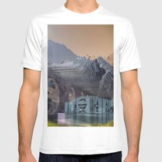 imposscape_02 Mens Fitted Tee MEDIUM White