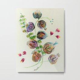 Elegant Floral Buds by Barbara Chichester Metal Print