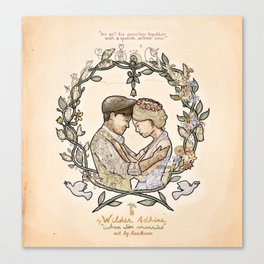 """Illustration from the video of the song by Wilder Adkins, """"When I'm Married"""" Canvas Print"""