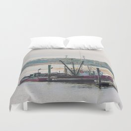 Cape Cod Fishing Boat Duvet Cover