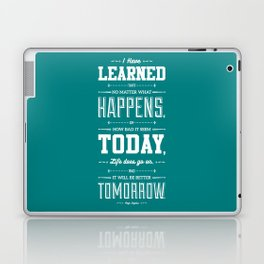 Lab No. 4 I've Learned That No Matter Maya Angelou Inspirational Quote Poster Laptop & iPad Skin