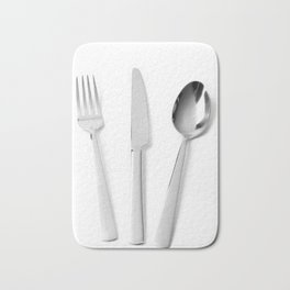 Fork, knife and spoon Bath Mat
