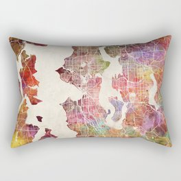 Seattle map Rectangular Pillow