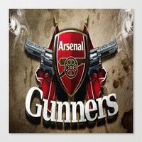 arsenal Canvas Prints featuring ARSENAL by Acus