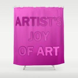 Artist's joy of art 3 Shower Curtain
