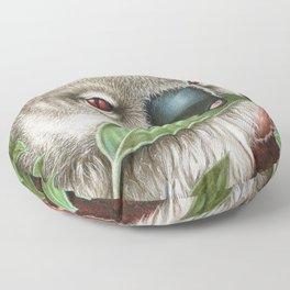Koala Munching a Leaf Floor Pillow