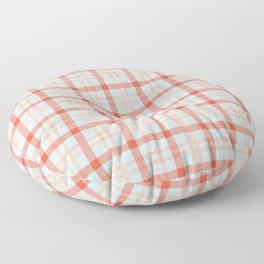 Red Blue Plaid Tartan Print Check Pattern Classic Picnic Floor Pillow