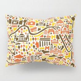 Berlin City Map Poster Pillow Sham