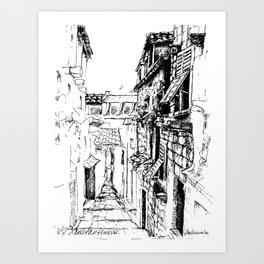 Dubrovnik Old Town Street Art Print