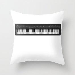 Music Keyboard I Prefer the Keyboardist Throw Pillow