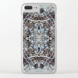 Pebbles and Twigs (Mandala-esque #3) Clear iPhone Case