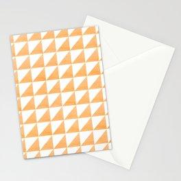 Coal Peach Orange Triangles Stationery Cards