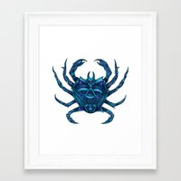 crab Framed Art Prints featuring Crab by Britney Elizabeth