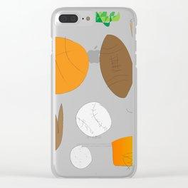 Sports Nut (Jaidyn) Clear iPhone Case