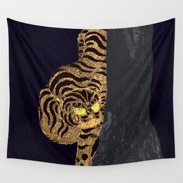 Night tiger Wall Tapestry
