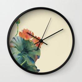 Lotus Bloom Wall Clock