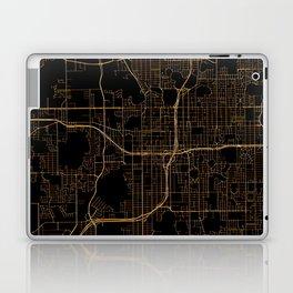 Black and gold Orlando map Laptop & iPad Skin