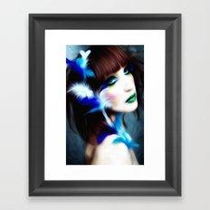 Feathered Beauty Framed Art Print
