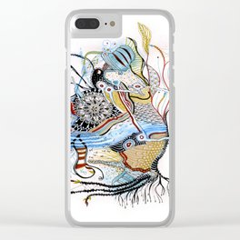 Mermaid Mantra Clear iPhone Case