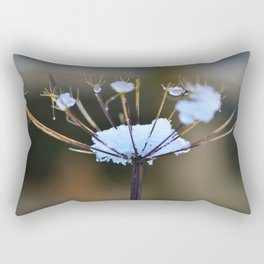 Cow Parsley In the Snow Rectangular Pillow