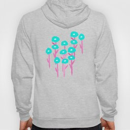Inverted Poppies on Dusty Pink Hoody