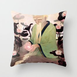 Flowers of Illusion Throw Pillow