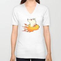 okami V-neck T-shirts featuring Okami by poripori
