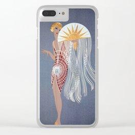 """Art Deco Design """"The Flapper"""" by Erté Clear iPhone Case"""