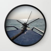 thailand Wall Clocks featuring Thailand Boatride by Plutonian Oatmeal