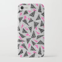 toddler iPhone & iPod Cases featuring Trizza - triangle zig zag modern minimal trendy pattern print gender neutral non binary art for all by CharlotteWinter