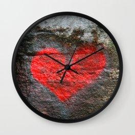 Rock Heart  Wall Clock