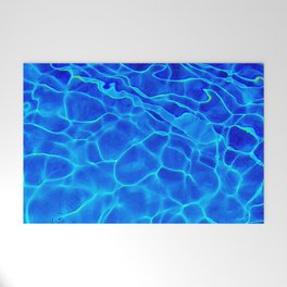 Blue Water Abstract Welcome Mat