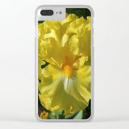 Golden Iris flower - 'Power of One' Clear iPhone Case