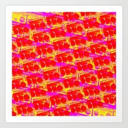 Boombox Pattern Art Print