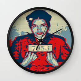 Rosa Parks NAH quote Obama style poster Wall Clock