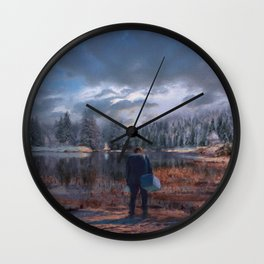 The coming of the dawn Wall Clock