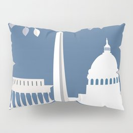 Washington, D.C. - Skyline Illustration by Loose Petals Pillow Sham