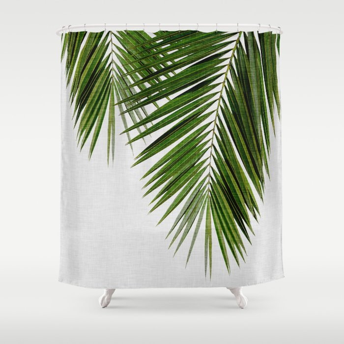 Palm Leaf II Shower Curtain