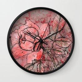 Solitary Rose Wall Clock