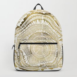 Gold Tree Rings Backpack