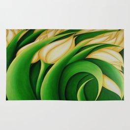 Stylized Yellow Tulips Rug