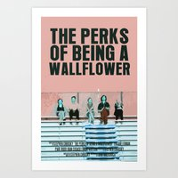 the perks of being a wallflower Art Prints featuring The Perks Of Being A Wallflower by FunnyFaceArt