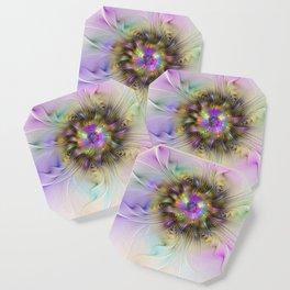 Flourish Abstract Fractal Flower Coaster