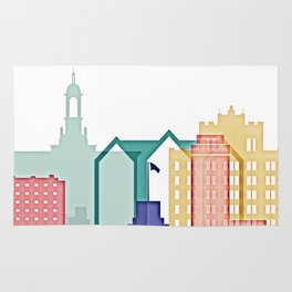 San Jose colorful skyline design Rug
