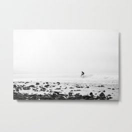 Malibu California Surfer Metal Print