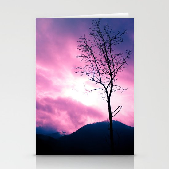 Into the Pink & Purple Sky  - JUSTART © Stationery Cards