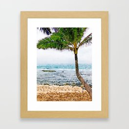 Maui Palm Tree Framed Art Print
