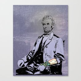 Inked Lincoln Canvas Print